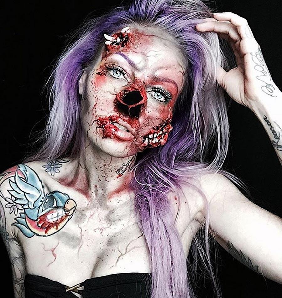 Grauenhafte Make-up-Ideen für Halloween sarah-mudle_04