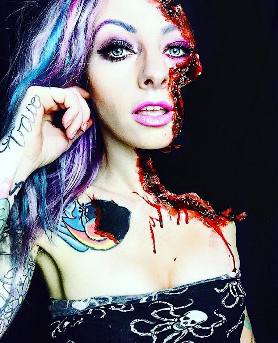 Grauenhafte Make-up-Ideen für Halloween sarah-mudle_06