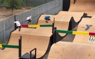 skateboard-wettrennen