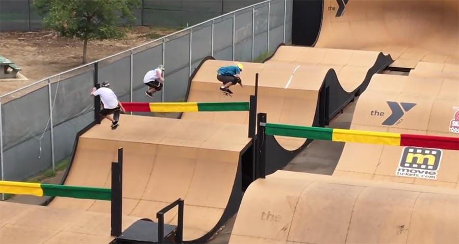 Skateboard-Wettrennen skateboard-wettrennen