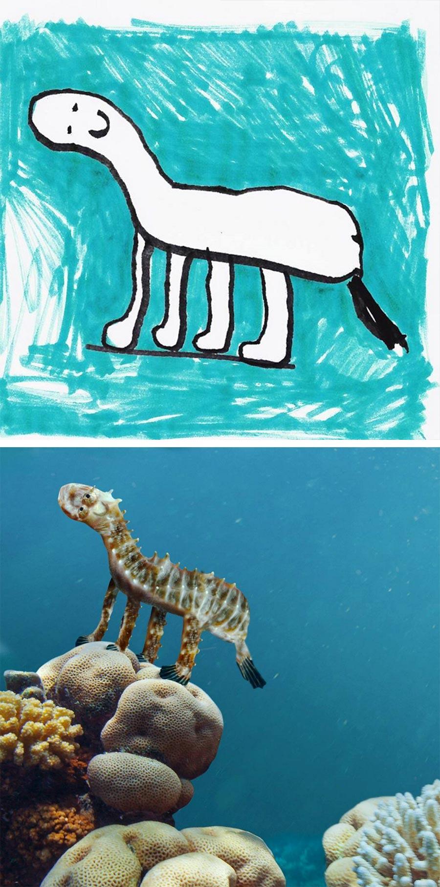 Vater photoshopped Zeichnungen seines 6-jährigen Sohnes in die Realität thingsihavedrawn_03