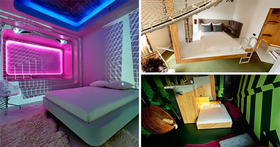 9 Designer haben je ein Zimmer in diesem Hotel erstellt