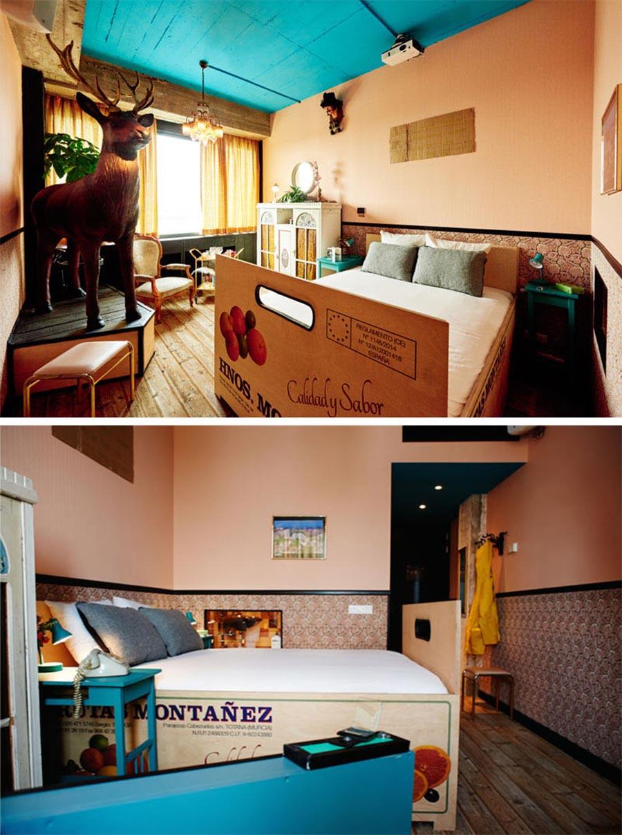 9 Designer haben je ein Zimmer in diesem Hotel erstellt volkshotel-amsterdam_08