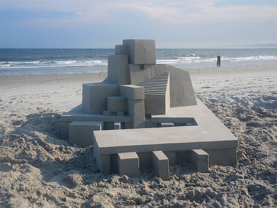Moderne Sandburg-Architektur