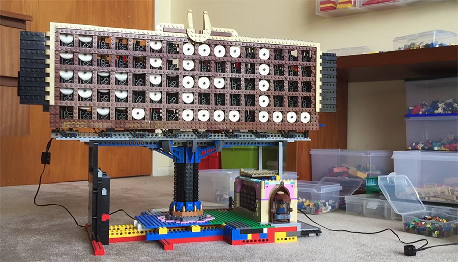 Laufband-Display aus LEGO LEGO-pixel-display