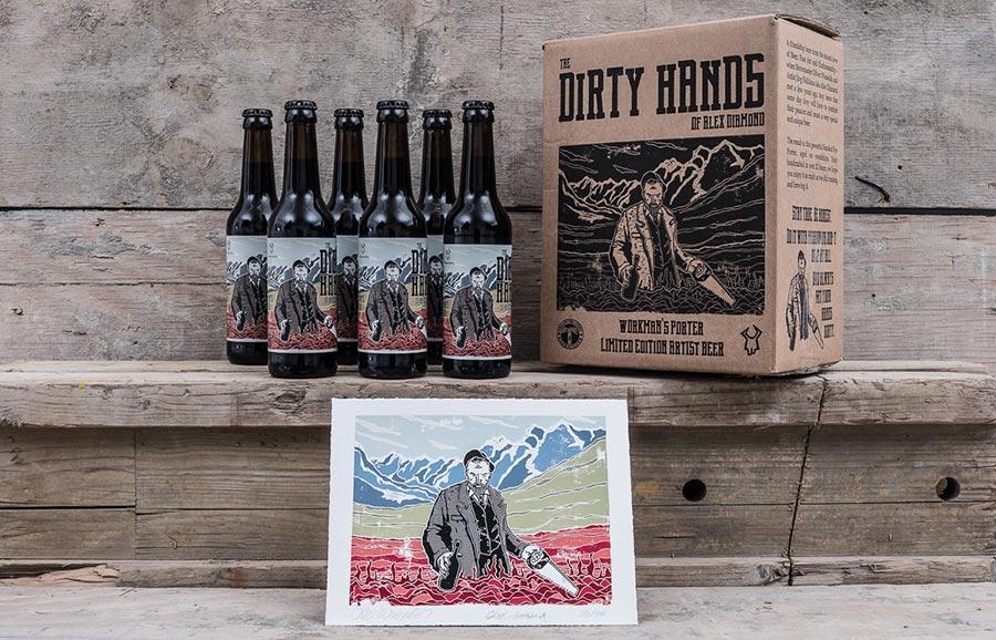 Gewinnt einen Kunst-Workshop mit Alex Diamond – oder sein Bier