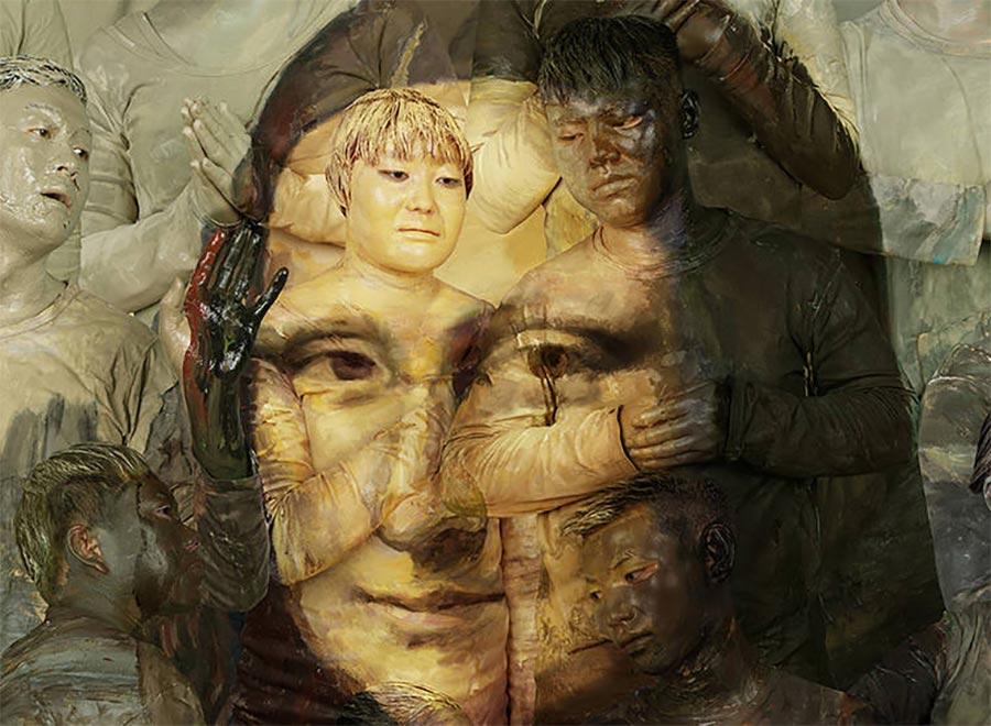 Gemälde-Klassiker mit bemalten Menschen nachgebaut art-hacke-liu-bolin_03
