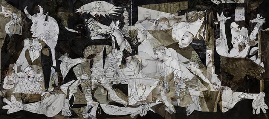 Gemälde-Klassiker mit bemalten Menschen nachgebaut art-hacke-liu-bolin_04