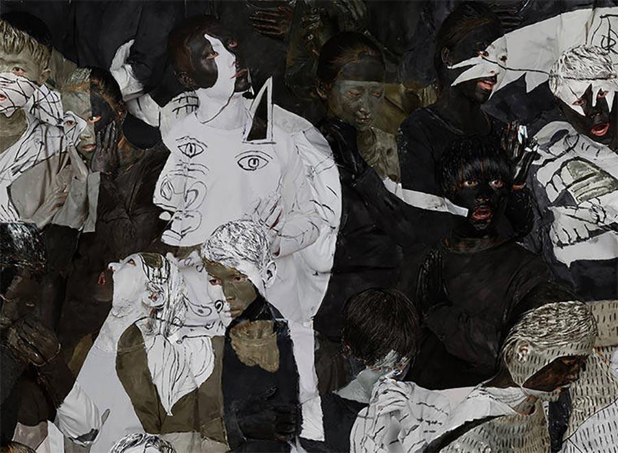Gemälde-Klassiker mit bemalten Menschen nachgebaut art-hacke-liu-bolin_05