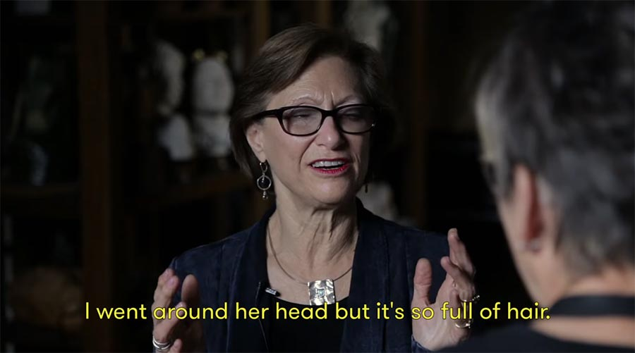 Blinde beschreiben Skulpteur ihre Liebsten