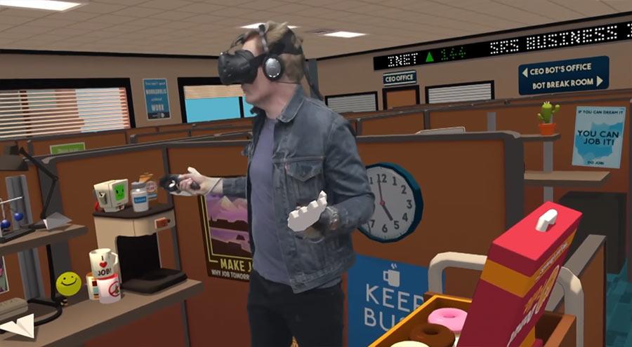 Conan besucht YouTubes VR-Lab