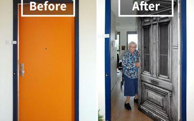 Demenz-Heim-Bewohner erhalten ihre alte Tür