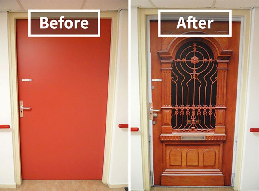 demenz heim bewohner erhalten ihre alte t r. Black Bedroom Furniture Sets. Home Design Ideas