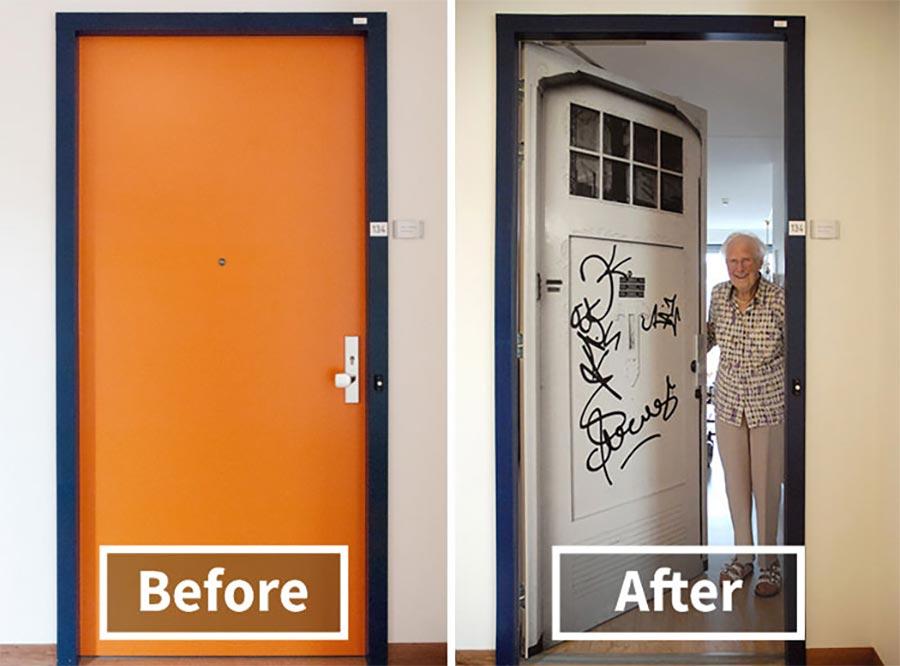Demenz-Heim-Bewohner erhalten ihre alte Tür demenz-tueren_06