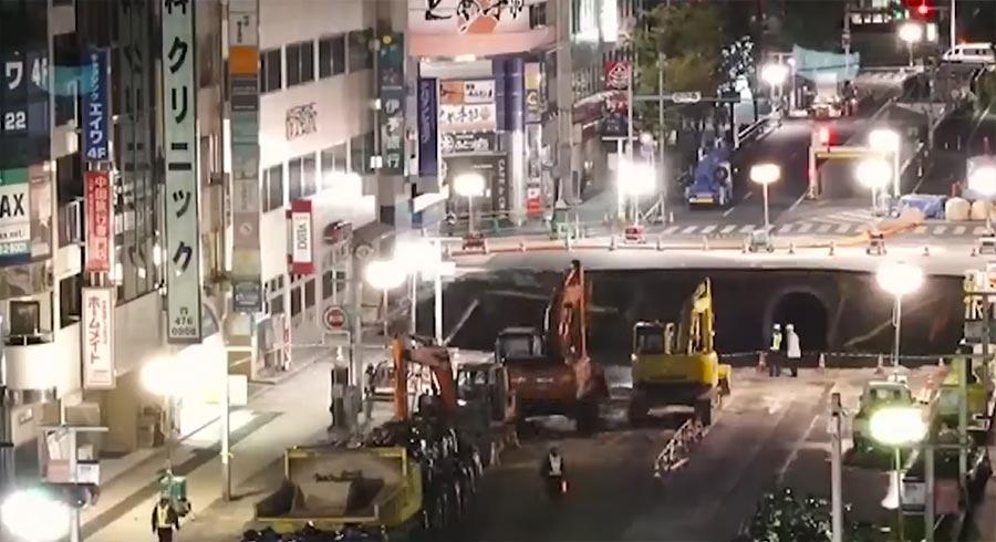 In Sieben Tagen schufen Japaner eine Erdloch-Reparatur