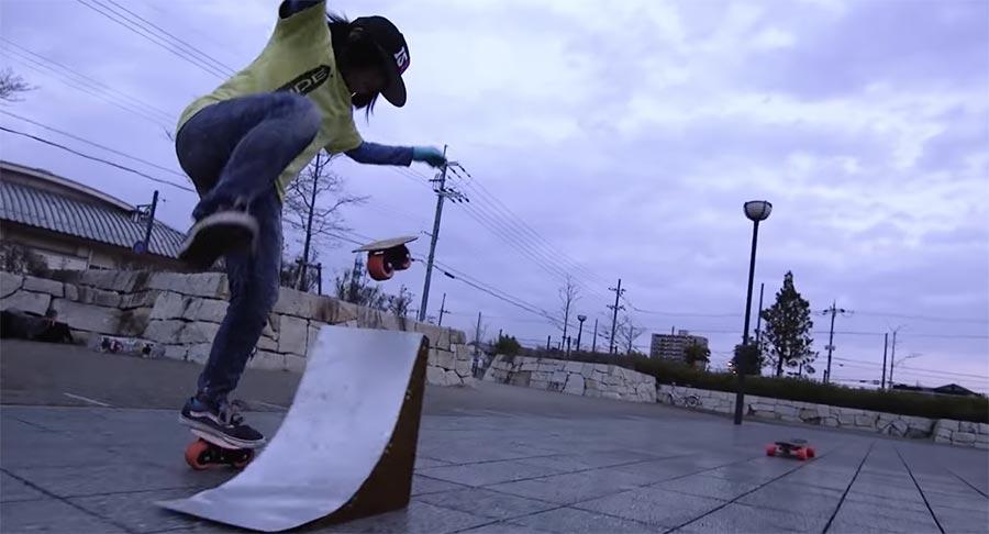 Isamu Yamamoto braucht kein Brett zum Skateboarden free-skates