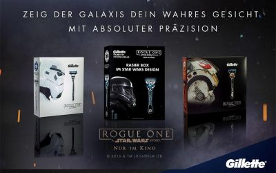 Gewinnt Gillette Geschenksets im Rogue One: A Star Wars Story-Look