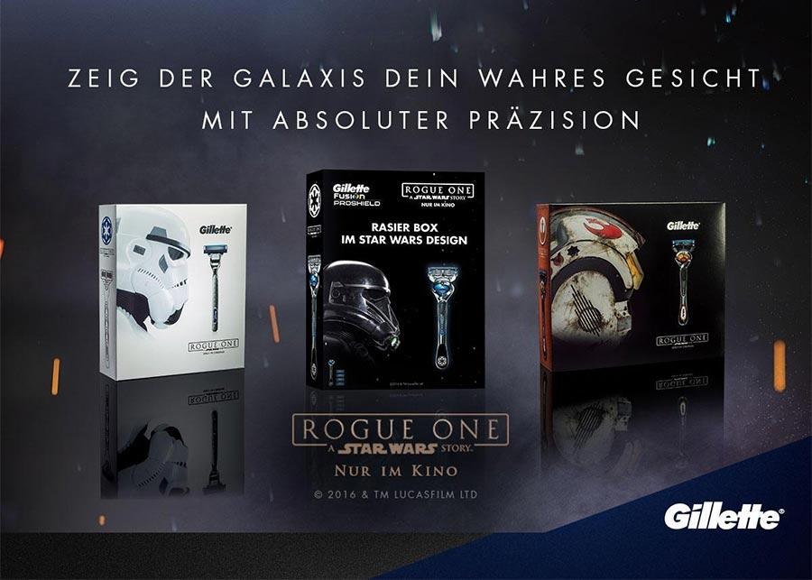 Gewinnt Gillette Geschenksets im <em>Rogue One: A Star Wars Story</em>-Look gillette-star-wars-gesicht