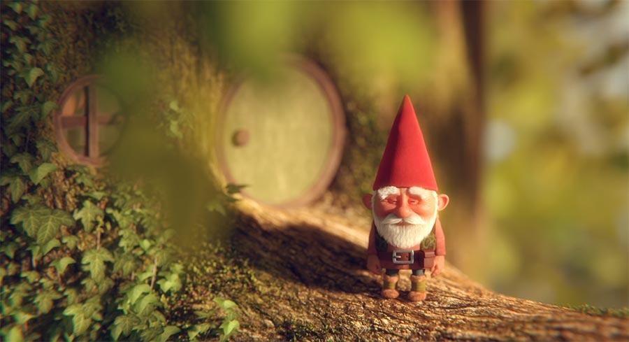 Der Zwerg und die Raupe gnome