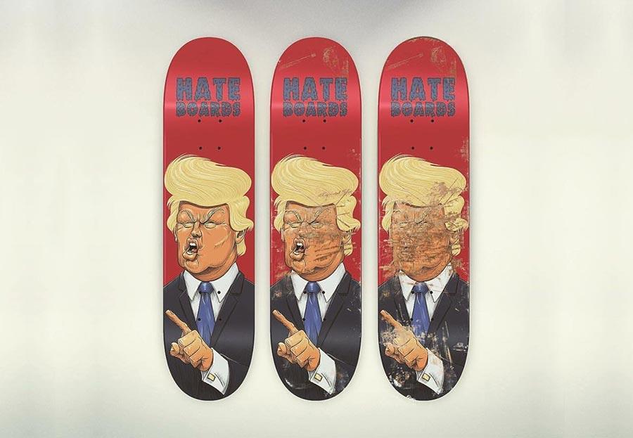 Skateboard-Fratzen zum Zershredden