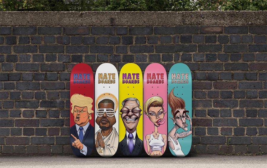 Skateboard-Fratzen zum Zershredden hate-boards_05
