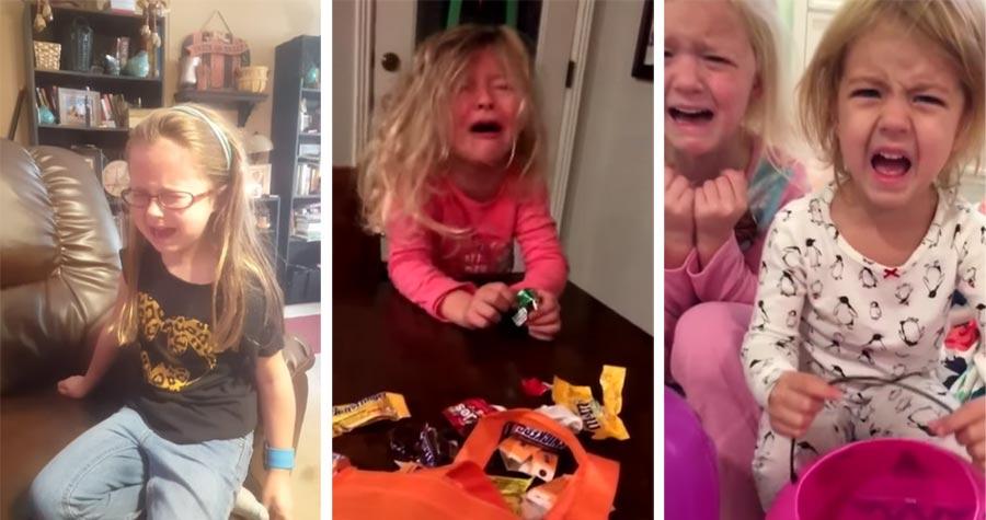 Eltern sagen Kindern wieder, sie hätten alle Halloween-Süßigkeiten gegessen