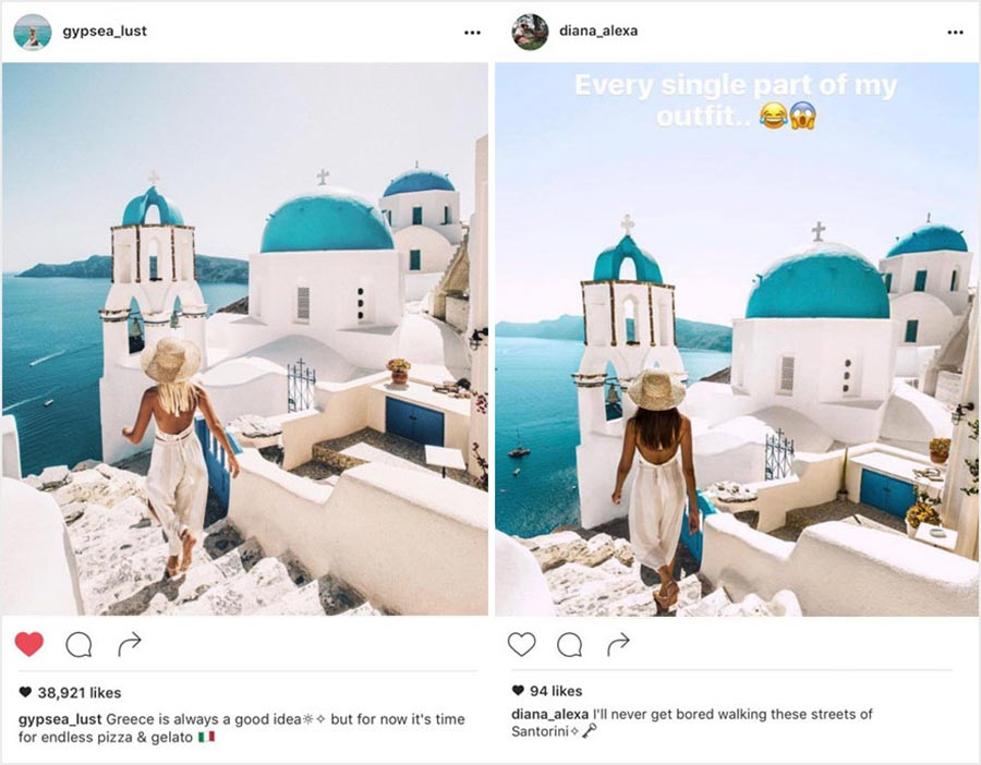Wenn ein Instagram-Follower deine Motive kopiert