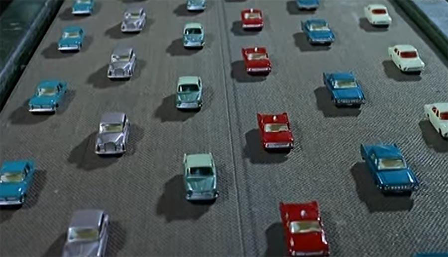 Hinter den 1965er Kulissen einer Matchbox Auto-Fabrik