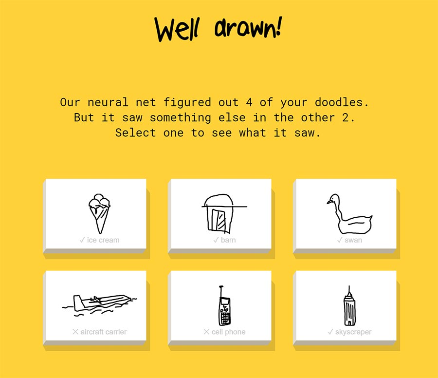 Neurales Netzwerk erkennt deine Zeichnungen quick-draw-google-ai_02
