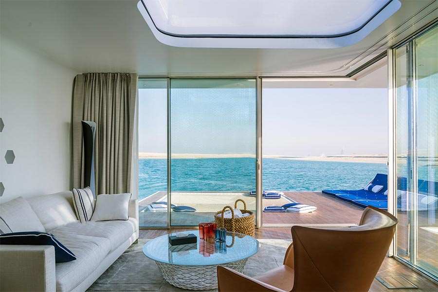 Luxus hausboot mit korallenriff blick - The floating homes of dubai luxury redefined ...