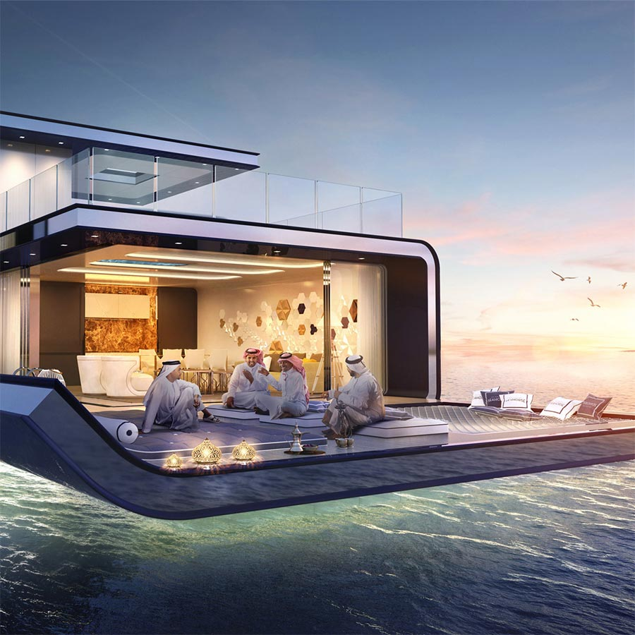 Luxus-Hausboot mit Korallenriff-Blick the-floating-seahorse_03