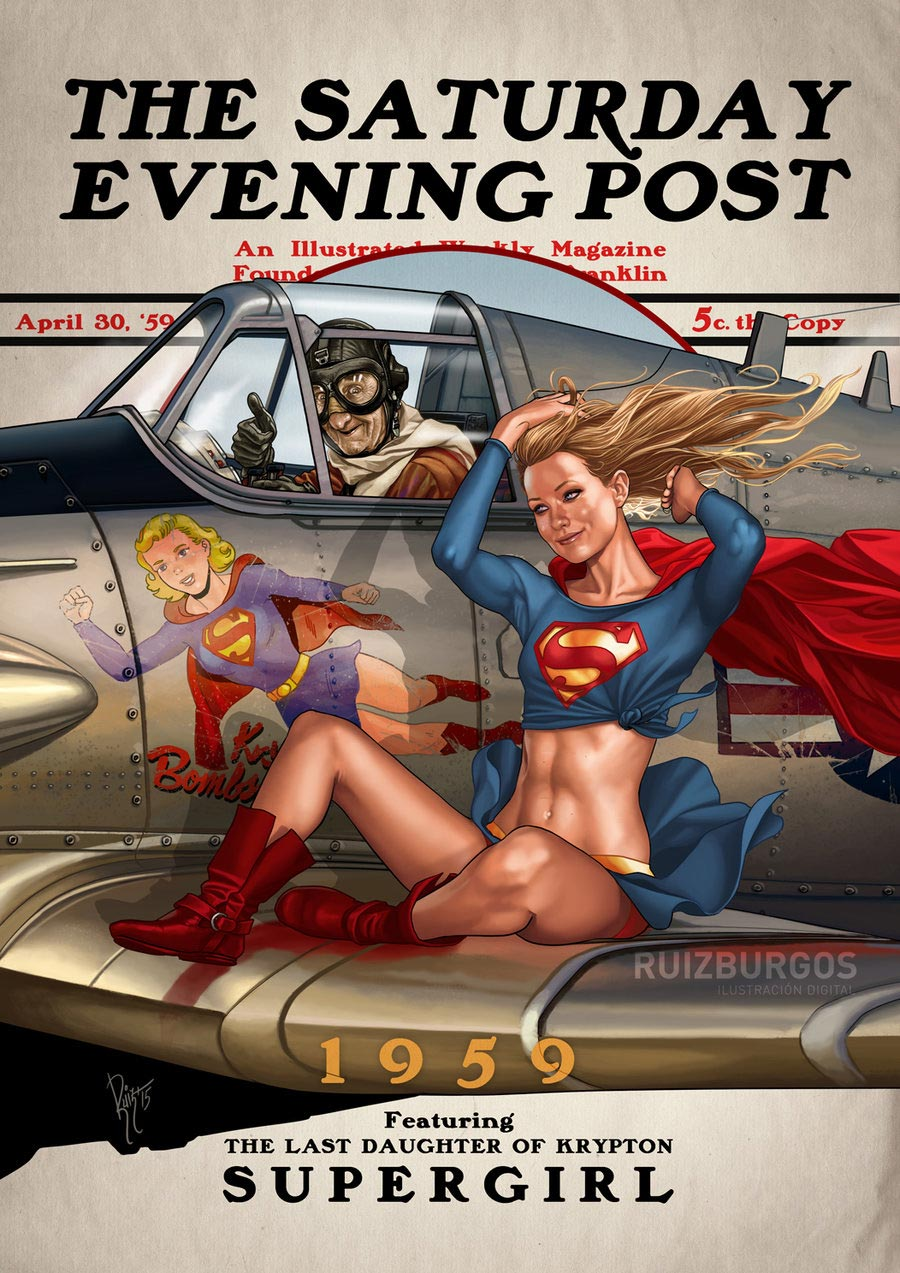 Superhelden-Illustrationen: Ruiz Burgos the-saturday-evening-post_01