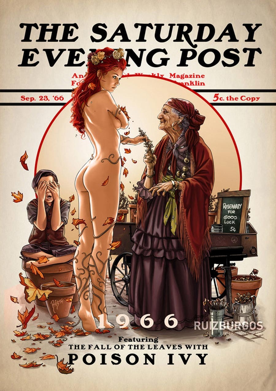 Superhelden-Illustrationen: Ruiz Burgos the-saturday-evening-post_06