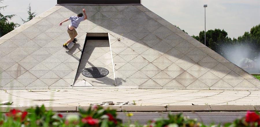 Spanisches Sommer-Skateboarding