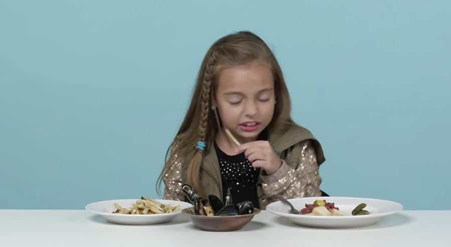 US-Kinder probieren französisches Essen