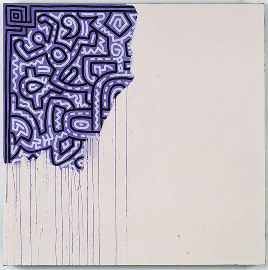 Die letzten Werke berühmter Maler 01_Keith-Haring-Unfinished-Painting-1990
