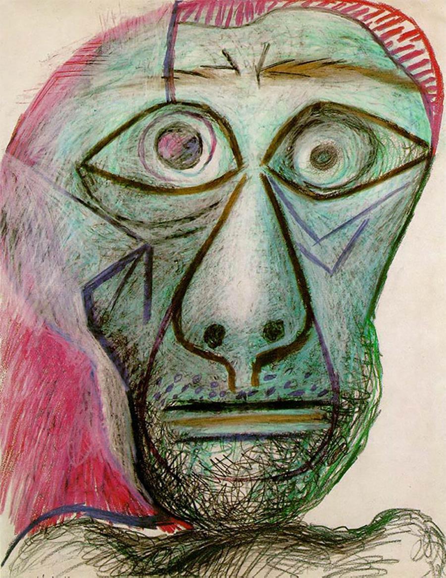 Die letzten Werke berühmter Maler 02_Pablo-Picasso-Last-Self-Portrait-1972