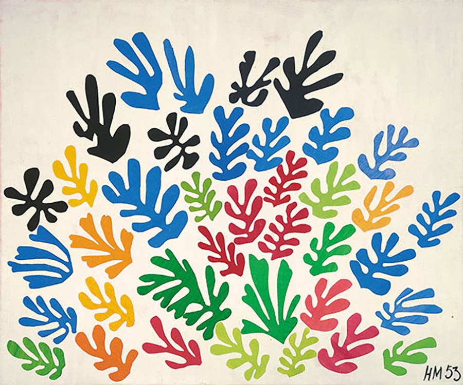 Die letzten Werke berühmter Maler 05_Henri-Matisse-La-Gerbe-1953