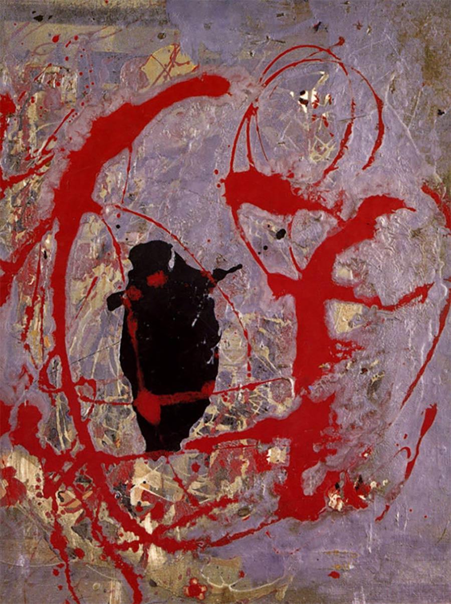 Die letzten Werke berühmter Maler 07_Jackson-Pollock-Red-Black-And-Silver-By-1956