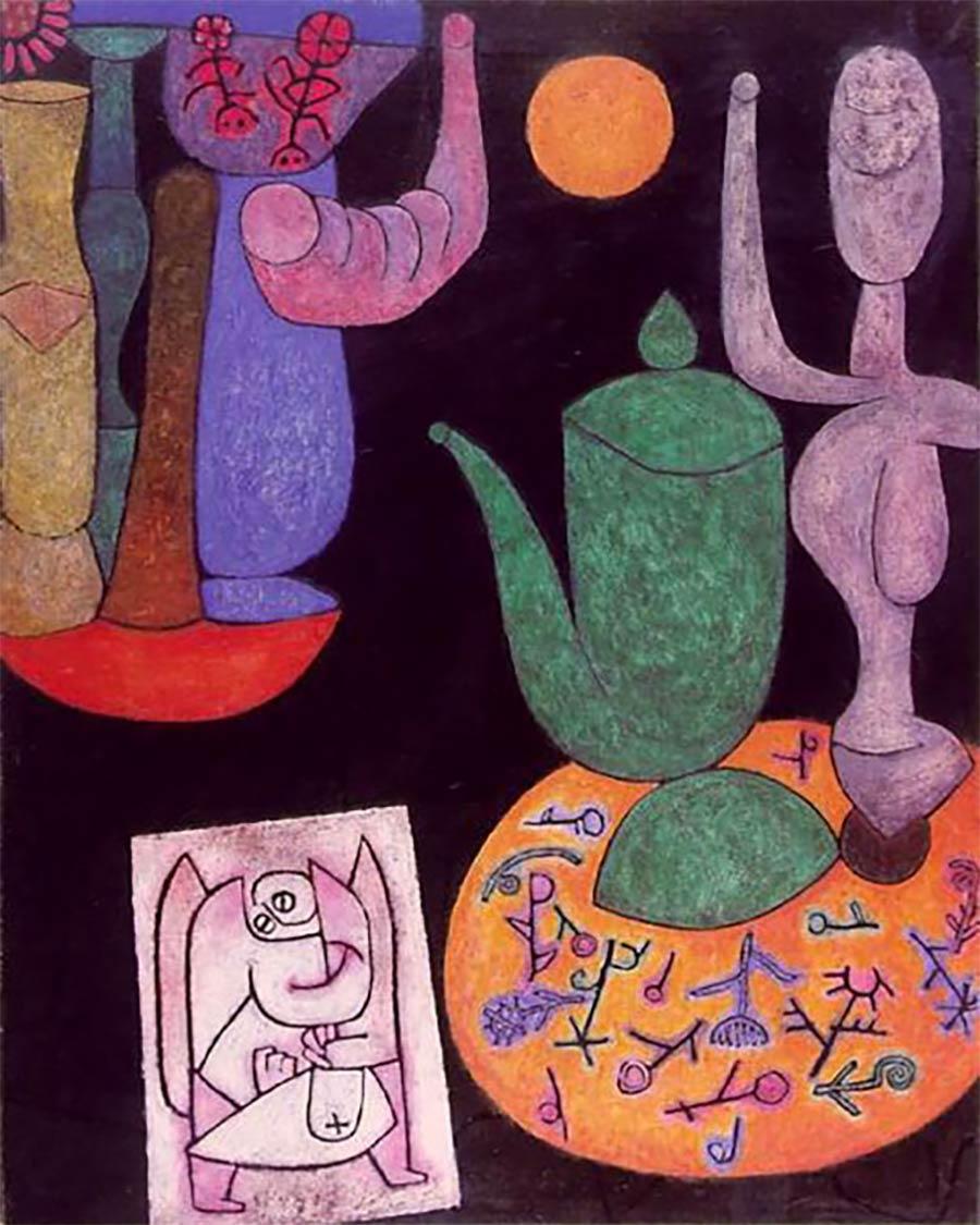 Die letzten Werke berühmter Maler 10_Paul-Klees-Untitled-Painting-1940