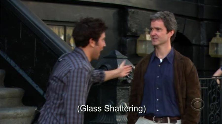 Schauspieler und ihre Eigenheiten HIMYM-glass-shattering