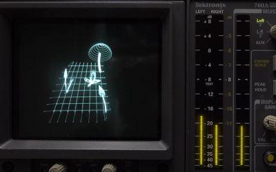 Mit Musik Bilder auf einem Oszilloskop malen