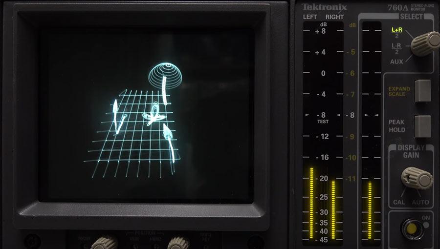Mit Musik Bilder auf einem Oszilloskop malen Oscilloscope-Music