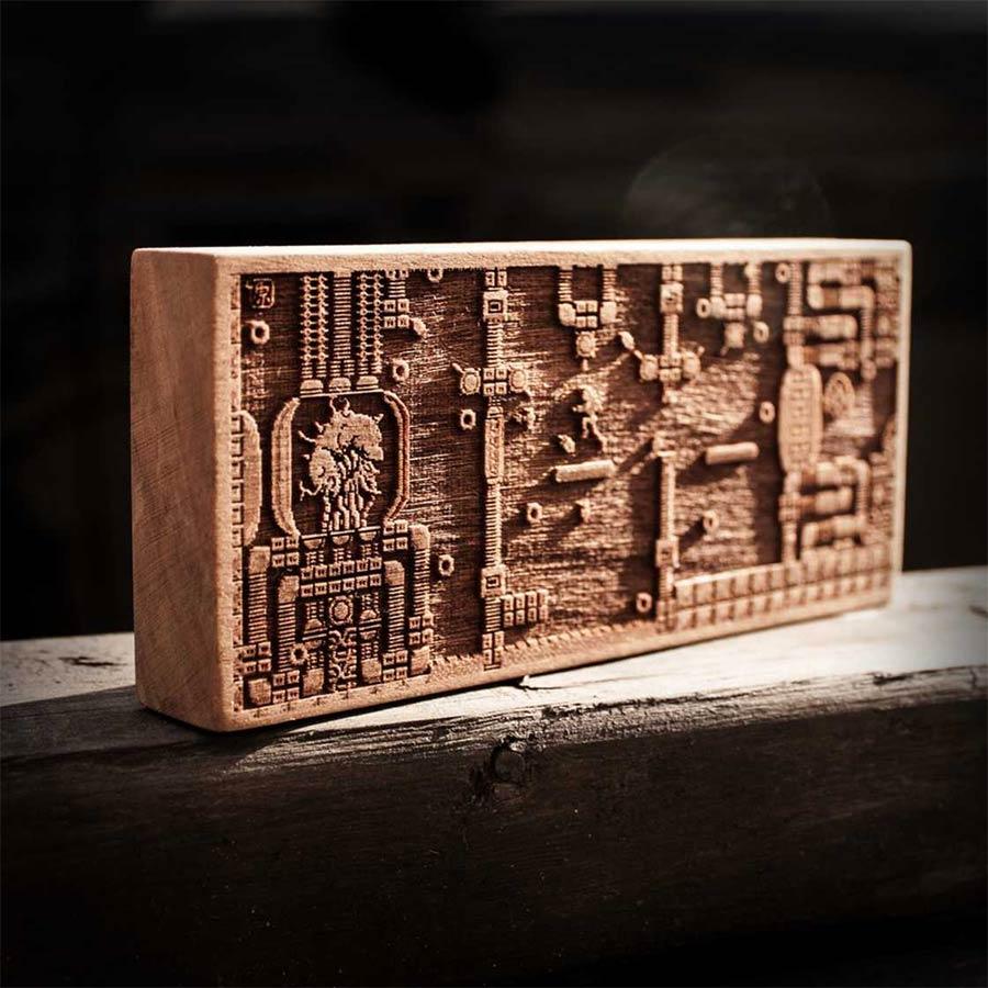 Coole Holz-Laser-Gravur-Kunst Spitfirelabs_wooden-retro_02