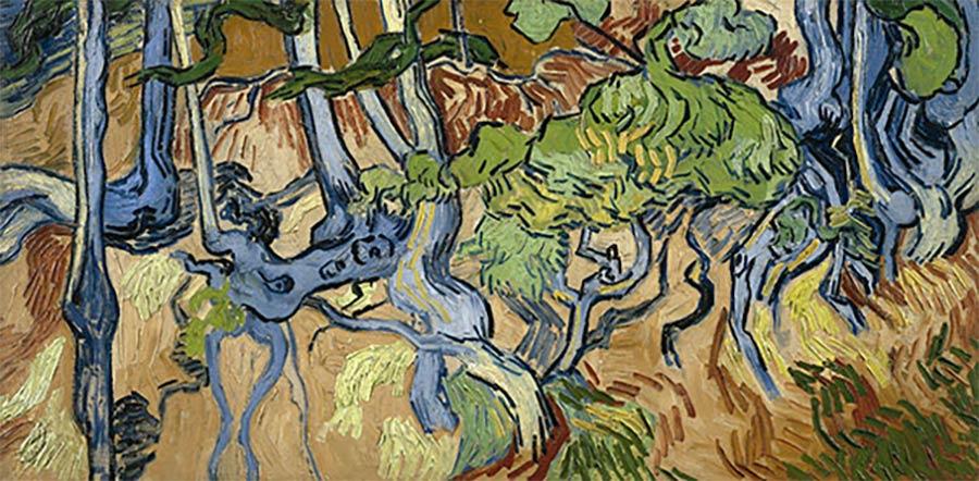 Die letzten Werke berühmter Maler Vincent-Van-Gogh-Tree-Roots-1890
