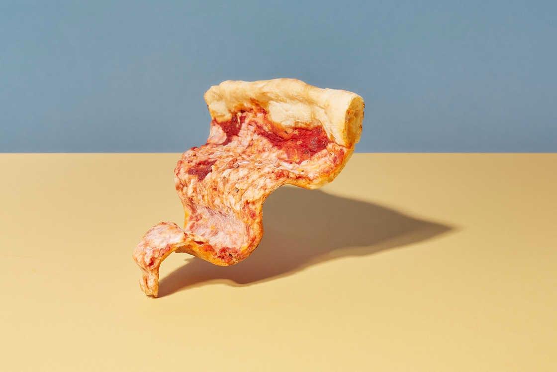 Kunst mit gefrorenem Essen