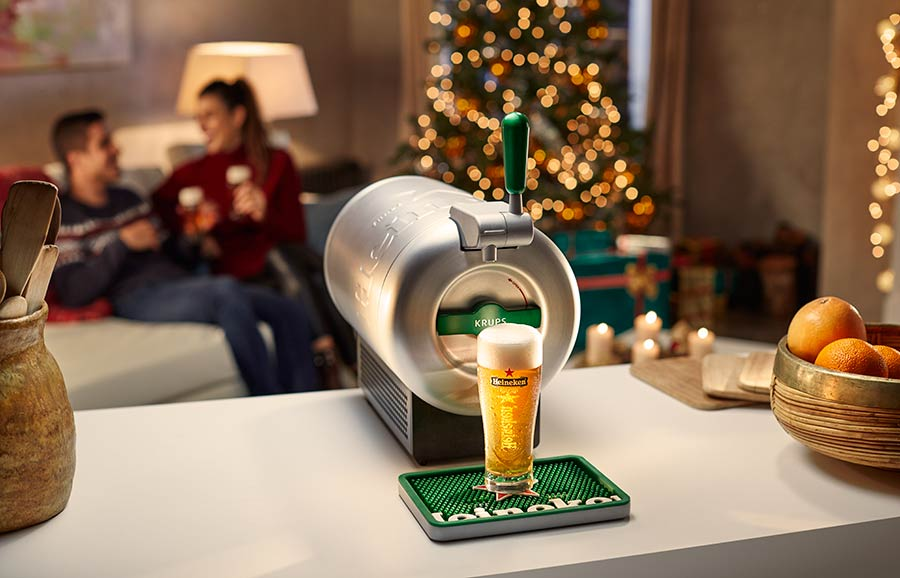 Heineken gibt es jetzt auch Zuhause gezapft
