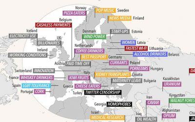 Darin sind alle Länder der Welt jeweils am besten