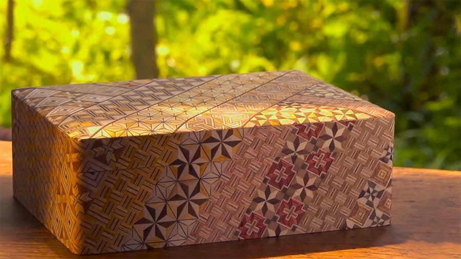 Geschenkpapier aus dünnem Holz japanese-yosegi-art