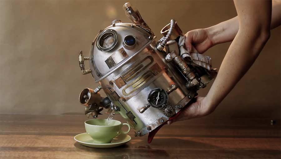 R2D2 Steampunk Wasserkocher